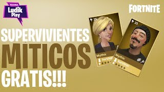 2 FREE MYTHICAL SURVIVORS! FORTNITE SAVE THE WORLD SPANISH GUIDE