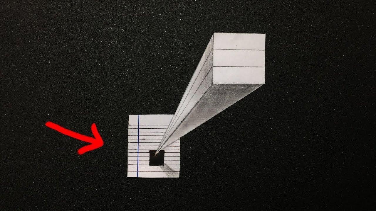 Đơn giản! Vẽ mảnh giấy nổi lên như thật | Drawing 3D illusion