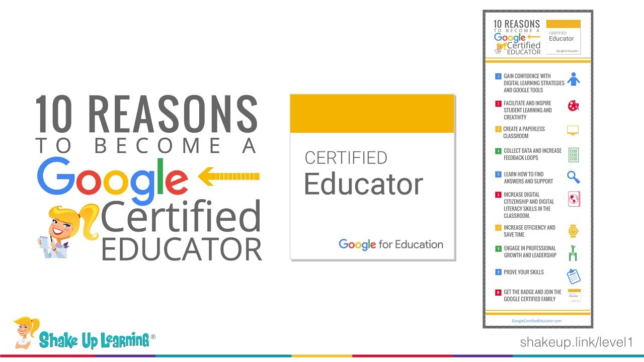 10 Reasons To Become A Google Certified Educator Level 1 And Level 2