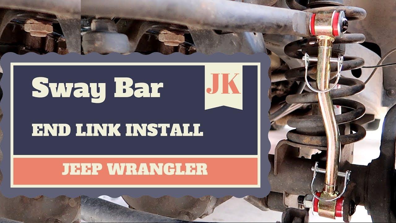 jeep wrangler jk jku sway bar end link install [ 1280 x 720 Pixel ]