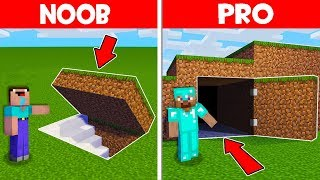 Minecraft NOOB vs PRO : NOOB FOUND WHAT VILLAGER HIDE IN THIS SECRET UNDERGROUND BASE! (Animation)
