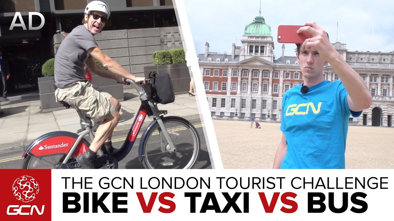 The GCN London Tourist Challenge - Bike Vs Taxi Vs Bus. Global Cycling  Network 034952218