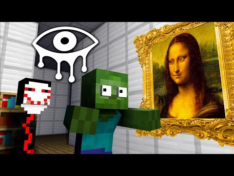 Monster School | EYES OF HORROR GAME CHALLENGE - Minecraft Animation
