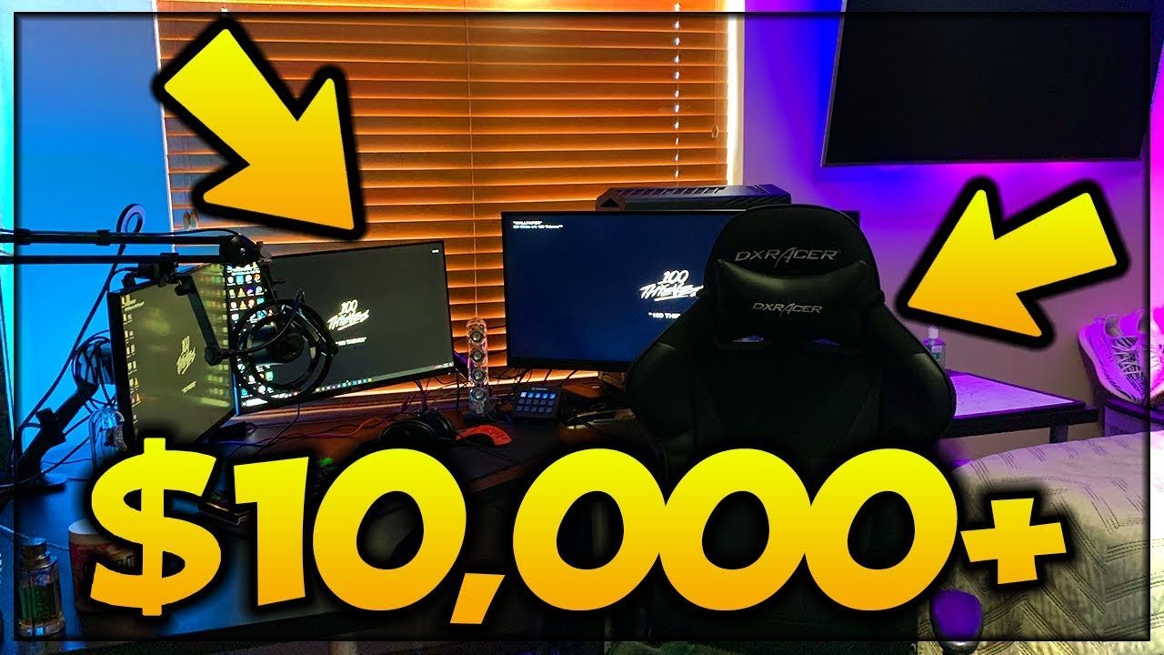 Muaaz's $10,000+ GAMING SETUP And Room Tour! (2019 EDITION)