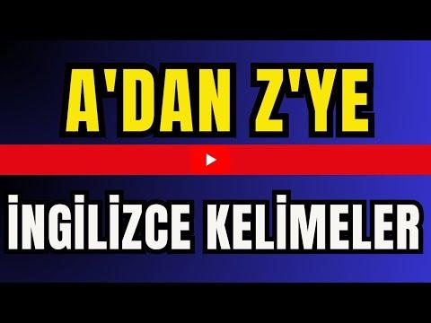 A dan Z ye Sık Kullanılan 3812 İngilizce Kelime (Anlamlarıyla) (A to Z EnglishandTurkish Vocabulary)