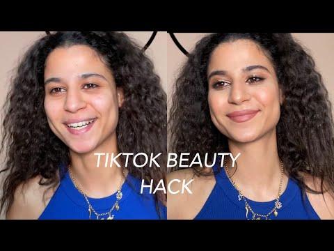 Trying the famous TikTok beauty hack   Dina Dash