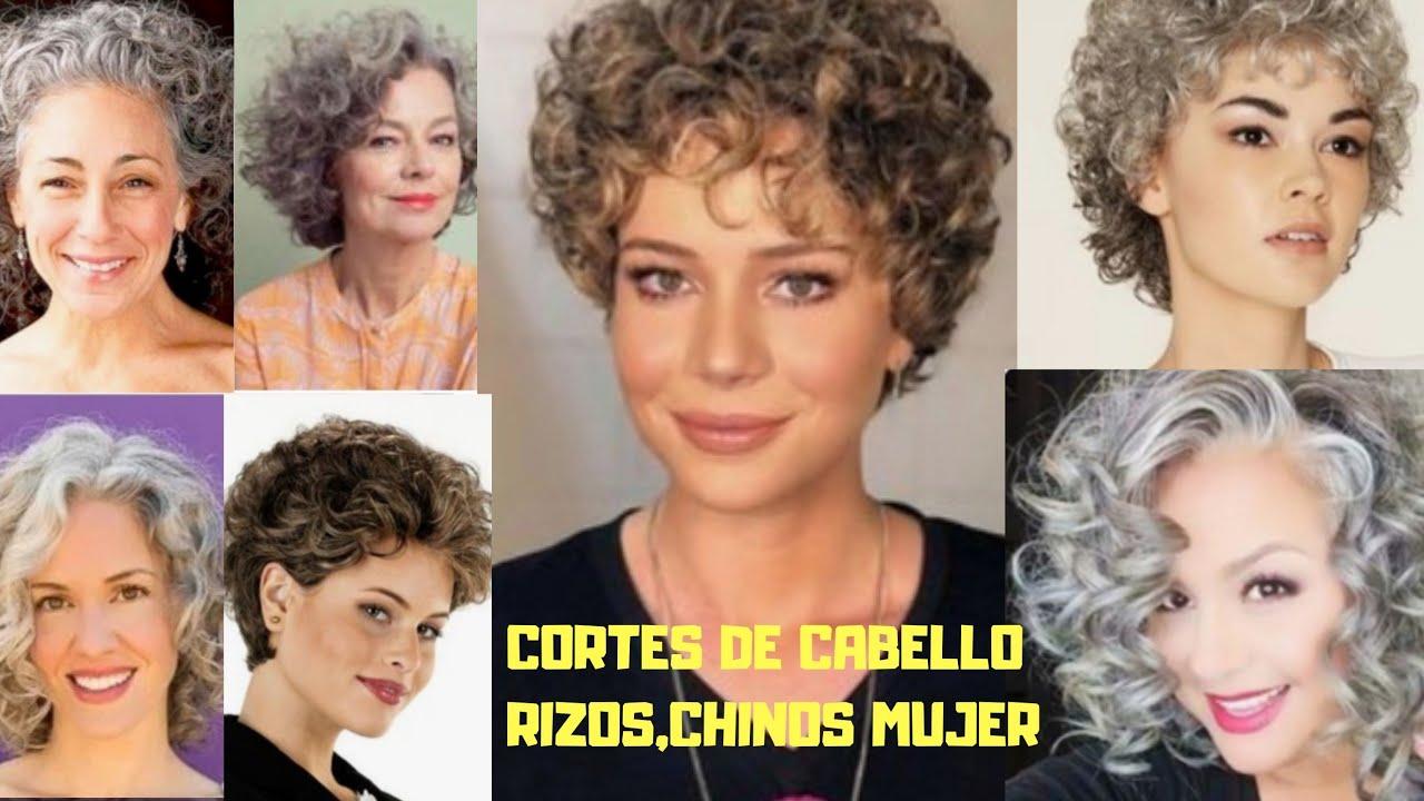 Corte De Cabello 2020 2021 Rizos Chinos Señoras 50 60 70 80 Años Youtube