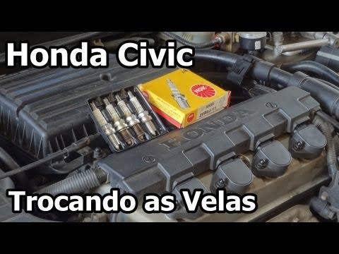 Honda Civic - TROCANDO VELAS DE IGNIÇÃO - Replacing the Spark Plug