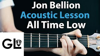 Jon Bellion - All Time Low: Acoustic Lesson EASY no capo