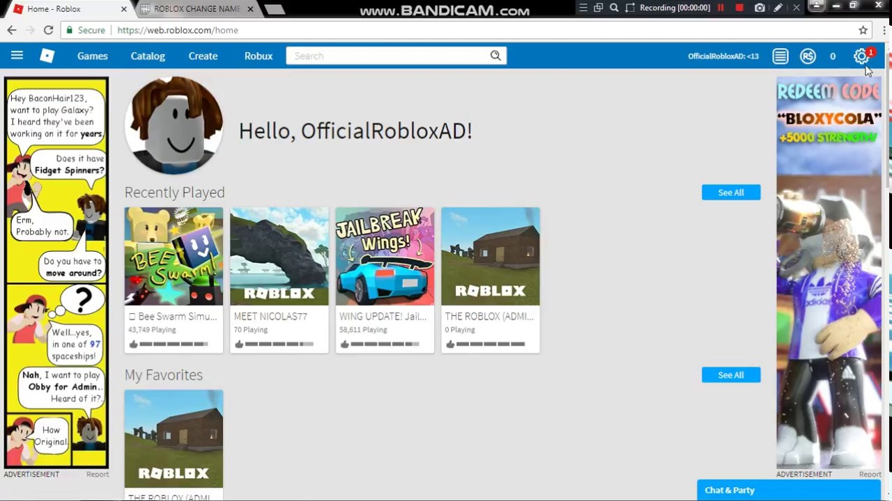how to change your username on roblox for free