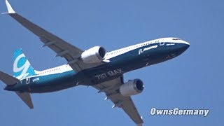 Boeing 737 MAX 9 Paris Air Show Steep Climbs + Sharp Turns Practice