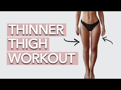 Thinner Thigh Workout   BURN FAT + SLIM THIGHS