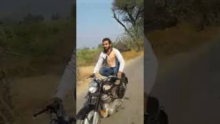 Gurjar boy stunt in bullet bike by Rahul Dohar ML