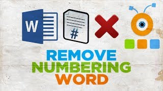 How to Remove Numbering from Some Pages in Word