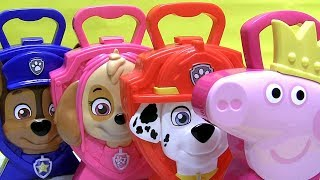 Surprise Toys Peppa pig Carry case Paw Patrol Minnie My Little Pony Squishy kinder egg