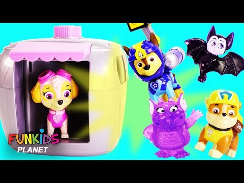 Thumbnail: Learn Colors with Paw Patrol Toys Transformation into Vampirina & Bats