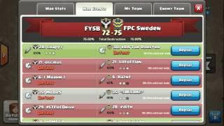 Clash Of Clans | Chappy GoVaHo FYSB vs FPC Sweden