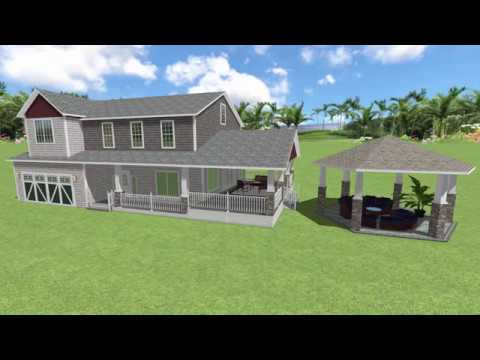 realtime landscaping- covered porch
