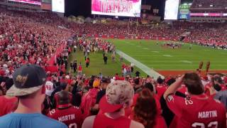 The end of the Bucs/Saints Game  12/11/16