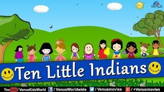 Ten Little Indians Girls - Hit Animated Rhyme For Kids