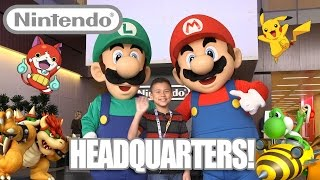 Video Game Action at NINTENDO HEADQUARTERS! Holiday Event 2015