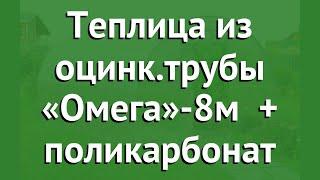 Теплица из оцинк.трубы «Омега»-8м (Воля) + поликарбонат обзор твп006 производитель Воля (Россия)