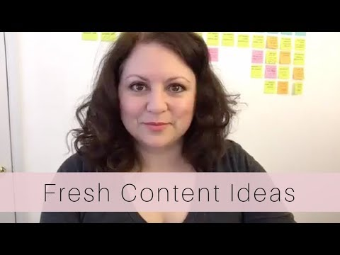 Fresh Content Ideas for Your Blog and Brand