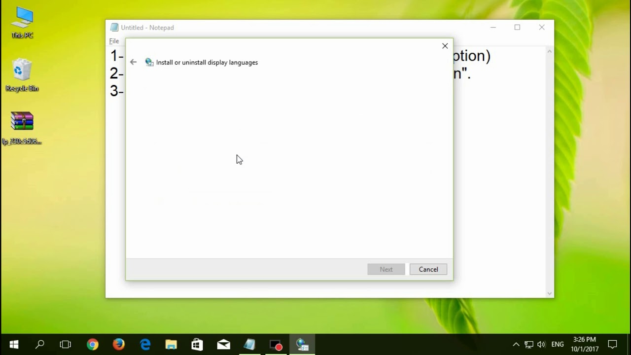 Language Packs Win 10 Build 15063 version 1703 - how to add a new language