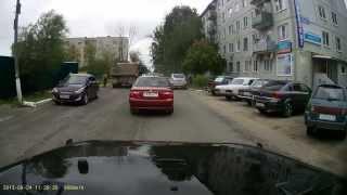 ДТП авария Камаз подвинул август 2013. аварии на видеорегистратор