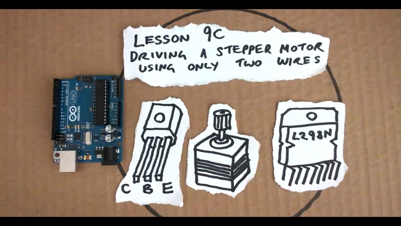 Lesson 9C - Drive a stepper motor with only two wires - Arduino ...