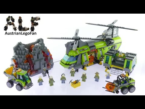 Lego City 60125 Volcano Heavy-lift Helicopter - Lego Speed Build Review