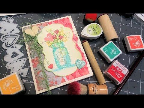 Happy Heart Bouquet Card!