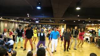 20131220 sunshine project in Christmas salsa party
