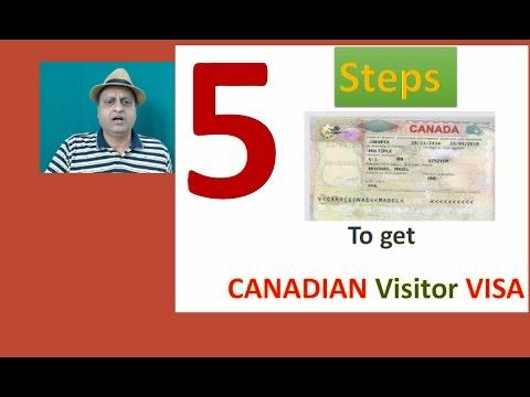Canadian Visitor Visa. 5 steps to get Canadian Visitor Visa. How to get Canadian Visitor Visa.