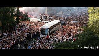 Así fue el espectacular recibimiento al Real Madrid