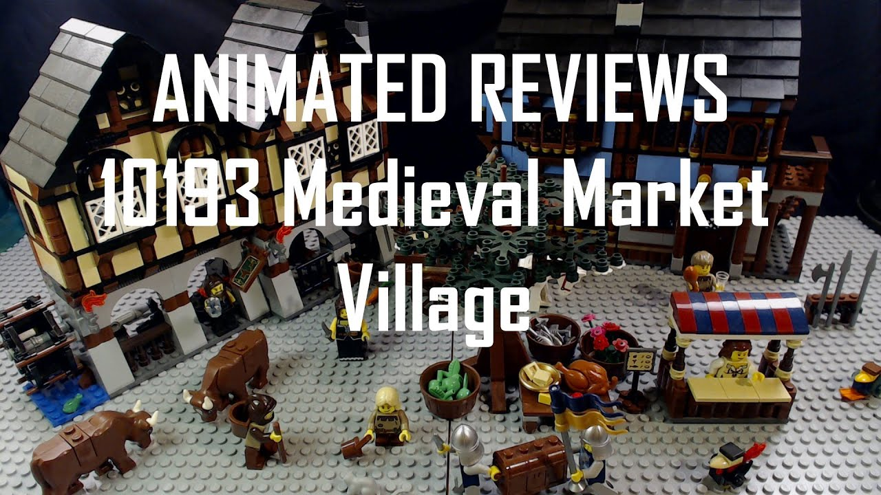 Animated Reviews - 10193 Medieval Market Village - YouTube