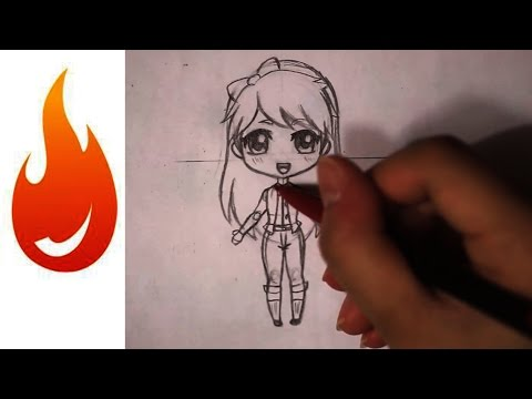 How To Draw A Chibi Anime Girl Character Tutorial