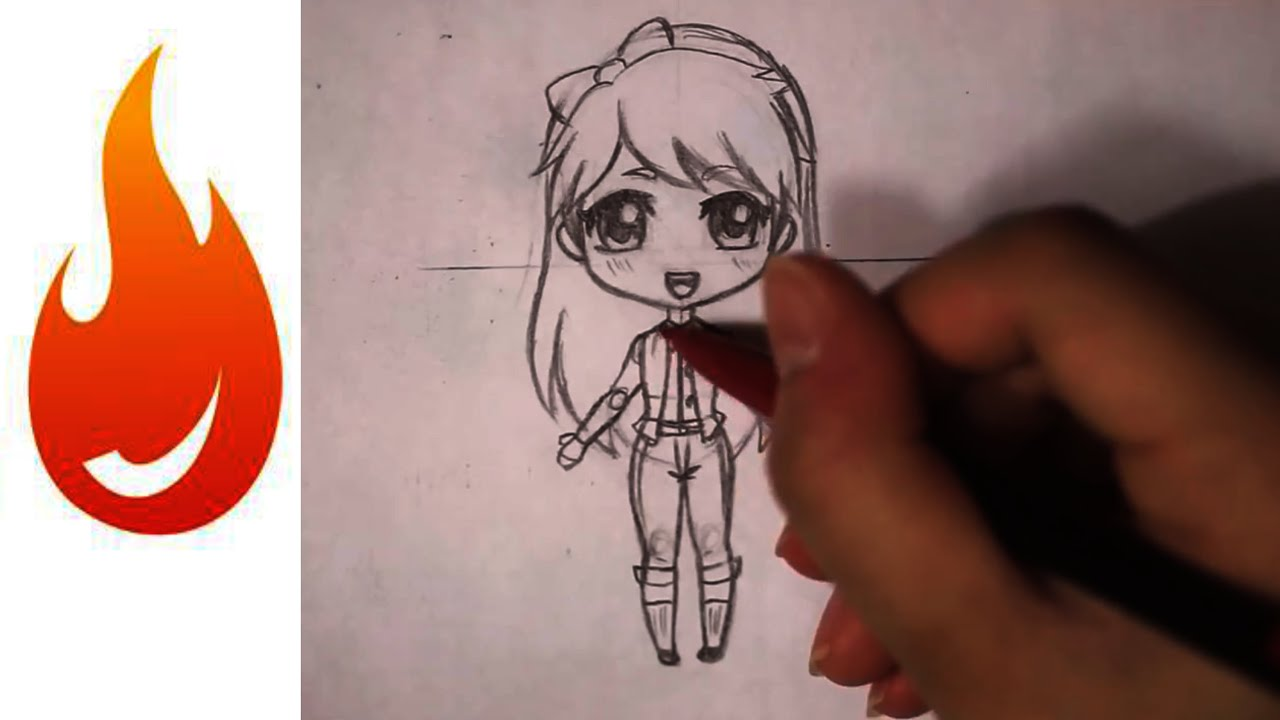 How to draw a chibi anime girl character tutorial youtube