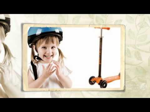 Обзор Самокат детский трехколесный Scooter L-504 - YouTube
