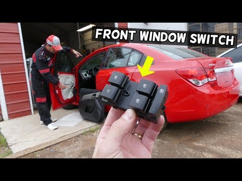 CHEVROLET CRUZE FRONT MASTER WINDOW SWITCH RPELACEMENT REMOVAL. WINDOW NOT WORKING FIX CHEVY CRUZE