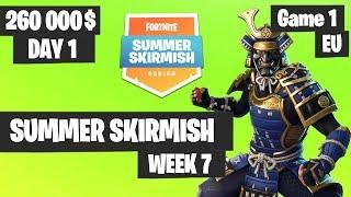 Fortnite Summer Skirmish Week 7 Day 1 Game 1 EU Highlights