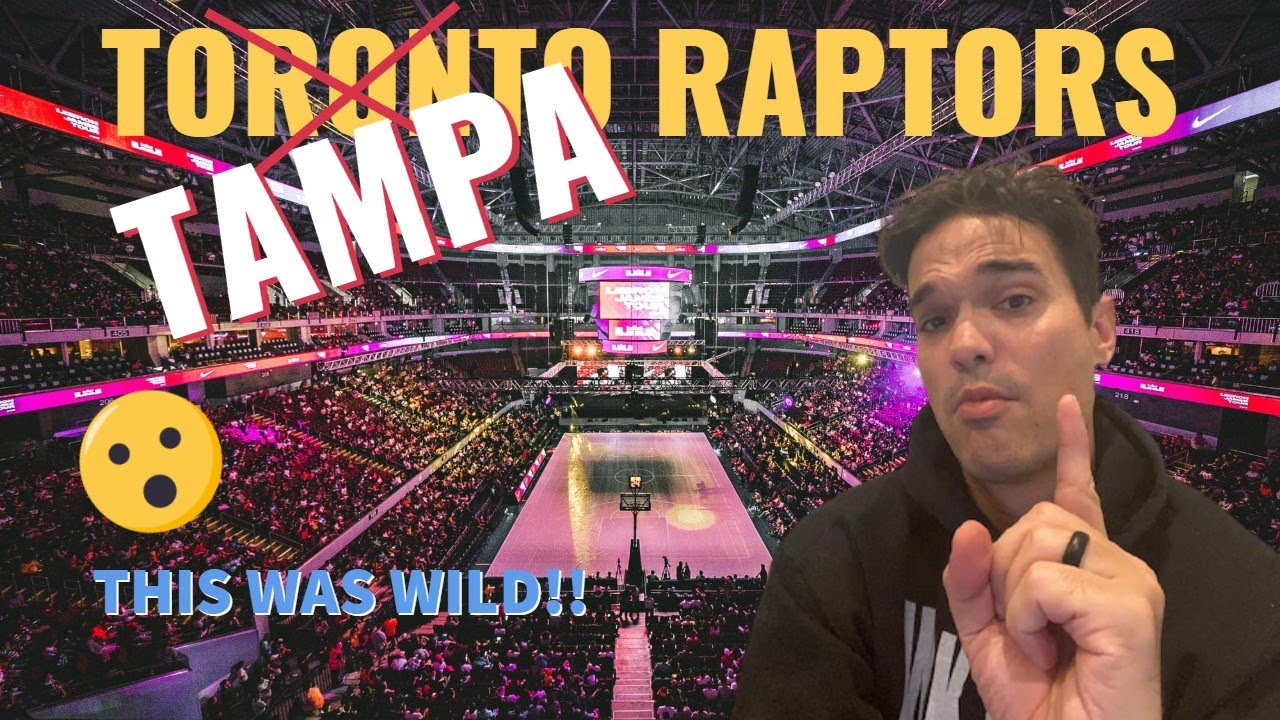 Toronto Raptors in Tampa - Our first game night against New York Knicks