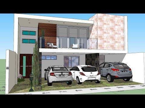 Como hacer mi casa en un terreno de 5x20 doovi for Casa moderna minimalista 6 00 m x 12 50 m 220 m2
