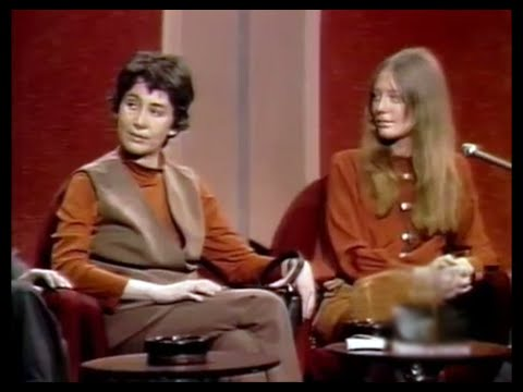 Susan Brownmiller facing Hugh Hefner at The Dick Cavett Show, 1970