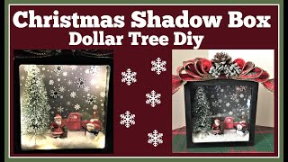 Christmas Shadow Box 🎄 Dollar Tree Diy