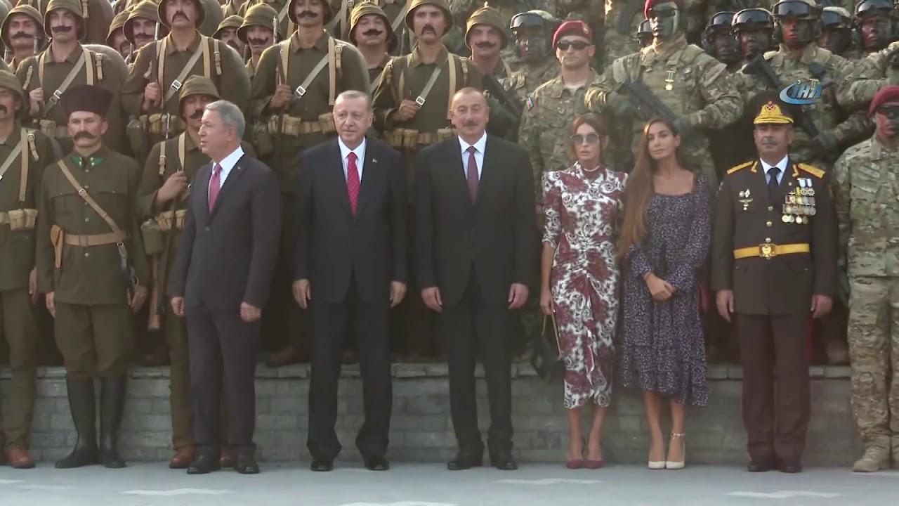 İlham Əliyev və Rəcəb Tayyib Ərdoğanın Bakı gəzintisi