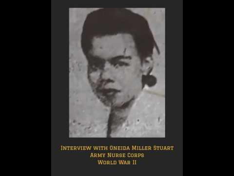 Oneida Miller Stuart of the Army Nurse Corps in WW2