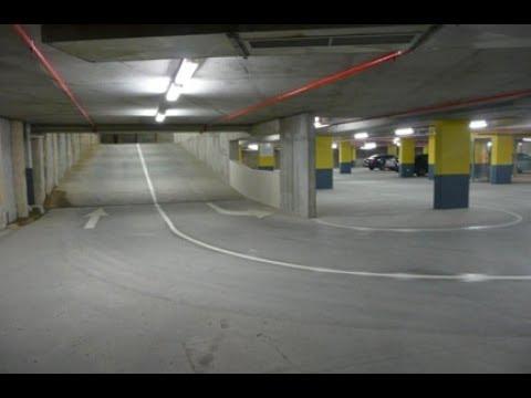 Indoor car parking with ramp - lighting design - YouTube