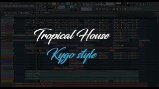 Fl Studio 12 Tutorial - How To Make Tropical House/Kygo Style (Free FLP)