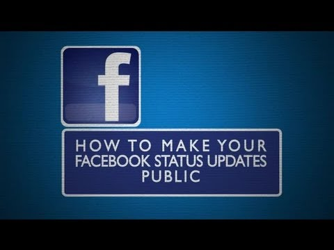 How To Make Your Facebook Status Updates Public : Everything Facebook